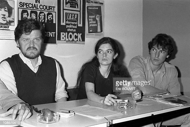 Michael Plunkett, Mary Reid, Stephen King in Vincennes, France on October 05th , 1983.