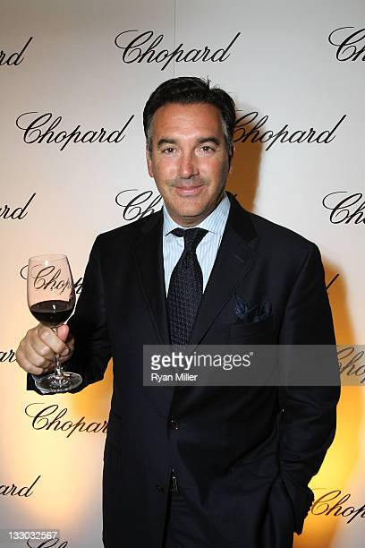 Michael Polenski Owner Blackbird Winery poses during the Chopard reopening celebration of their South Coast Plaza boutique hosted by Marc Hruschka...