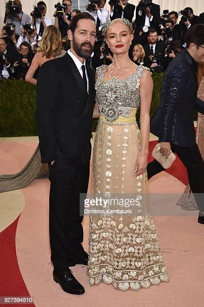 Michael Polish and actress Kate Bosworth attend the 'Manus x Machina Fashion In An Age Of Technology' Costume Institute Gala at Metropolitan Museum...