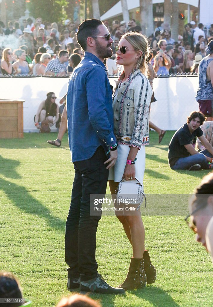 Michael Polish and Kate Bosworth are seen at Coachella Valley Music and Arts Festival at The Empire Polo Club on April 11, 2015 in Indio, California.
