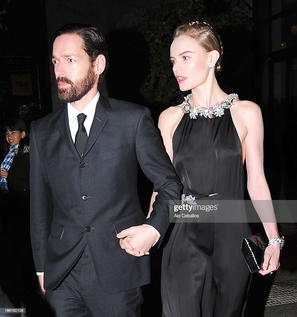 Michael Polish and Kate Bosworth are seen in Soho on October 28, 2013 in New York City.
