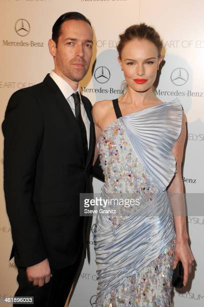 Michael Polish and Kate Bosworth arrive at The Art of Elysium's 7th Annual HEAVEN Gala presented by MercedesBenz at Skirball Cultural Center on...