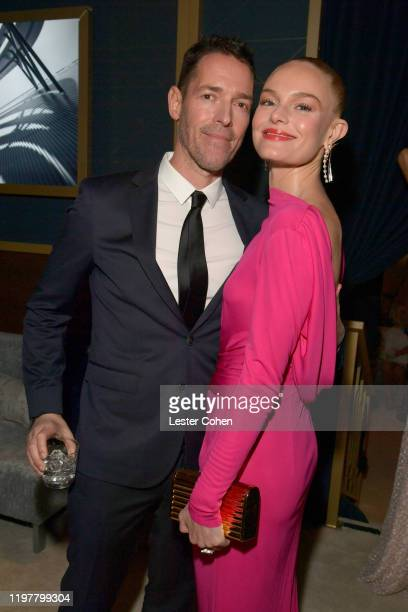 Michael Polish and Kate Bosworth attend The 2020 InStyle And Warner Bros 77th Annual Golden Globe Awards PostParty at The Beverly Hilton Hotel on...