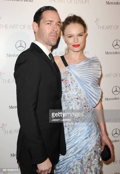 Michael Polish and Kate Bosworth attend the Art of Elysium's 7th annual Heavan gala at Skirball Cultural Center on January 11 2014 in Los Angeles...