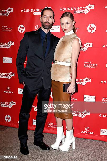 Michael Polish and Kate Bosworth attend the Big Sur Premiere during the 2013 Sundance Film Festival at Eccles Center Theatre on January 23 2013 in...