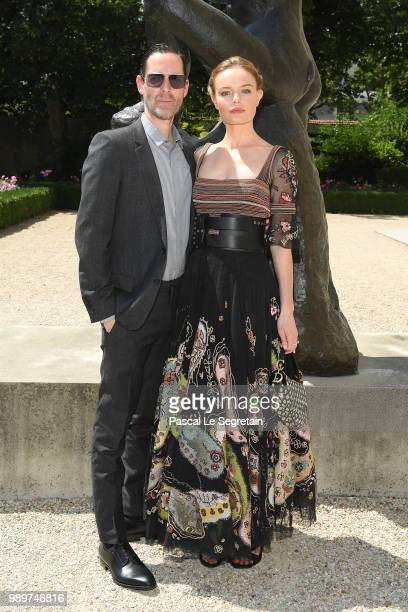 Michael Polish and Kate Bosworth attend the Christian Dior Haute Couture Fall Winter 2018/2019 show as part of Paris Fashion Week on July 2, 2018 in...