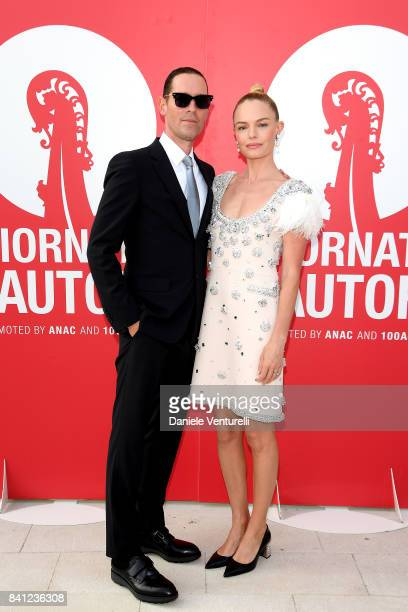 Michael Polish and Kate Bosworth attend the 'Miu Miu Women's Tales' photocall during the 74th Venice Film Festival at on August 31 2017 in Venice...