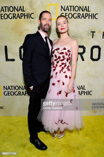 Michael Polish and Kate Bosworth attend the premiere of National Geographic's 'The Long Road Home' at Royce Hall on October 30 2017 in Los Angeles...