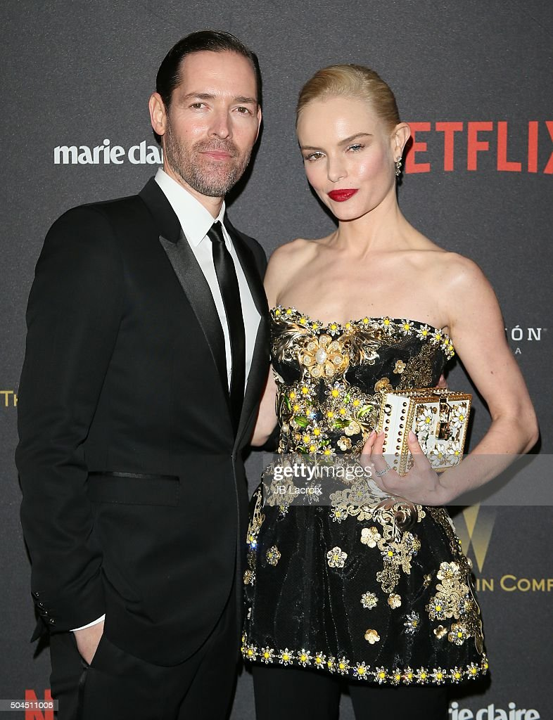 Michael Polish and Kate Bosworth attend The Weinstein Company and Netflix Golden Globe Party, presented with DeLeon Tequila, Laura Mercier, Lindt Chocolate, Marie Claire and Hearts On Fire at The Beverly Hilton Hotel on January 10, 2016 in Beverly Hills, California.