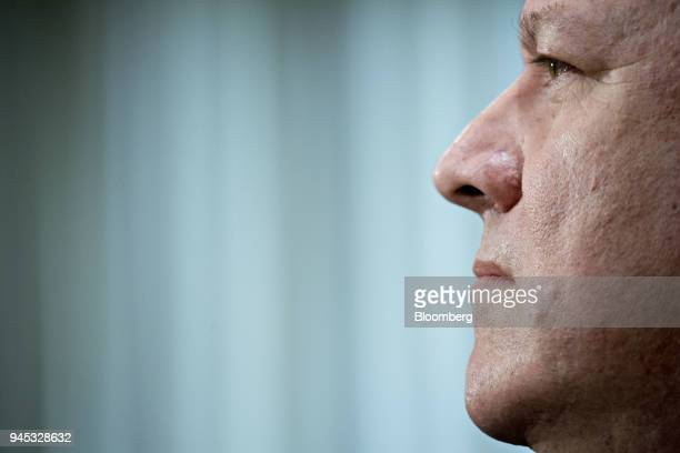Michael Pompeo director of the Central Intelligence Agency and US secretary of state nominee for President Donald Trump listens during a Senate...