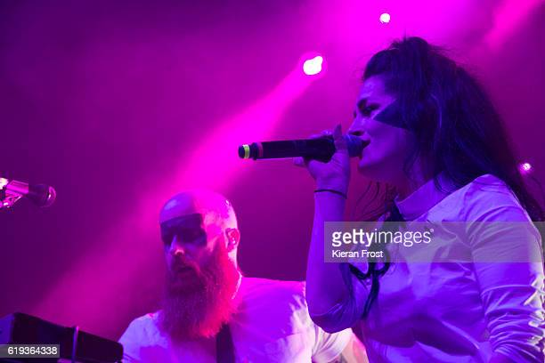 Michael Pope MaryKate Geraghty of Le Galaxie performs at Olympia Theatre on October 30 2016 in Dublin Ireland