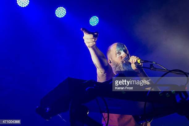 Michael Pope of Le Galaxie performs at Academy on April 24 2015 in Dublin Ireland
