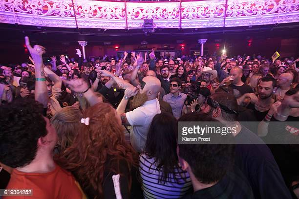 Michael Pope of Le Galaxie performs at Olympia Theatre on October 30, 2016 in Dublin, Ireland.