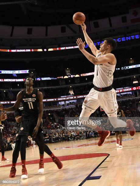 Michael Porter Jr #1 of the boys west team shoots against the boys east team during the 2017 McDonalds's All American Game on March 29 2017 at the...