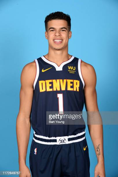Michael Porter Jr #1 of the Denver Nuggets poses for a head shot during media day on September 30 2019 at the Pepsi Center in Denver Colorado NOTE TO...