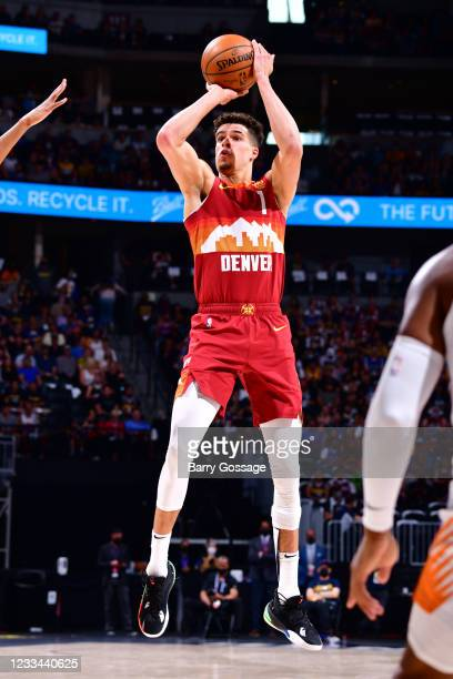 Michael Porter Jr. #1 of the Denver Nuggets shoots the ball against the Phoenix Suns during Round 2, Game 4 of the 2021 NBA Playoffs on June 13, 2021...