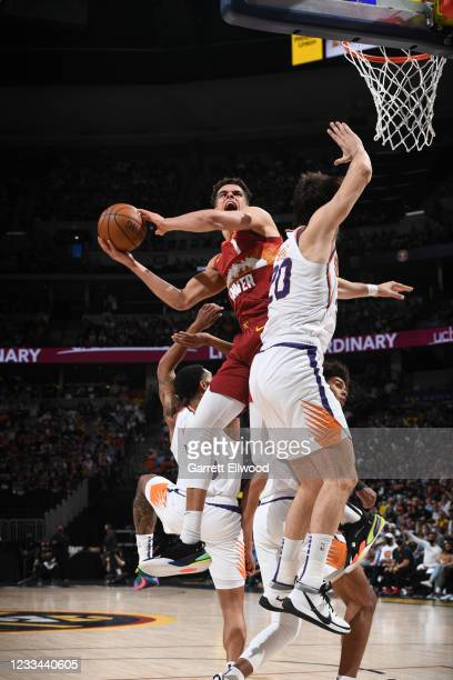 Michael Porter Jr. #1 of the Denver Nuggets shoots the ball during the game against the Phoenix Suns during Round 2, Game 4 of the 2021 NBA Playoffs...