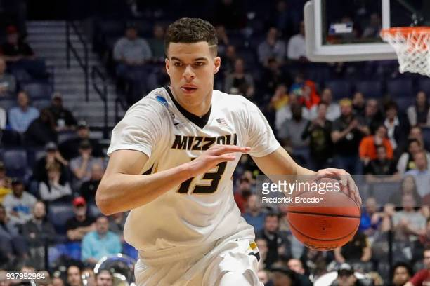 Michael Porter Jr #13 of the Missouri Tigers plays against the Florida State Seminoles during the first round of the 2018 NCAA Men's Basketball...