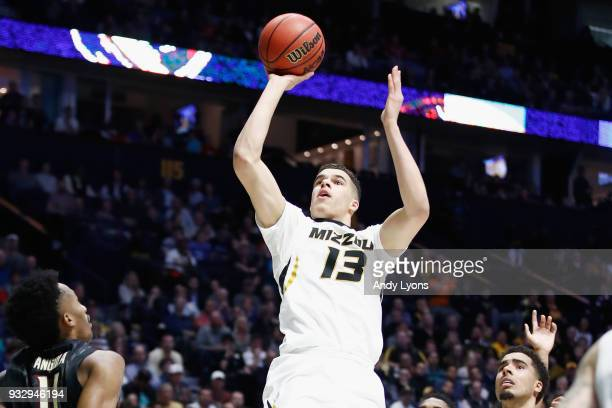 Michael Porter Jr #13 of the Missouri Tigers shoots the ball against the Florida State Seminoles during the game in the first round of the 2018 NCAA...