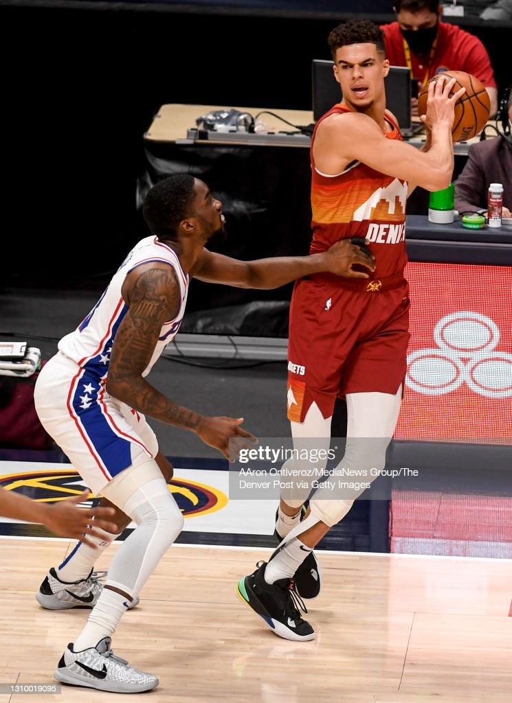 DENVER NUGGETS VS PHILADELPHIA 76ERS, NBA : News Photo