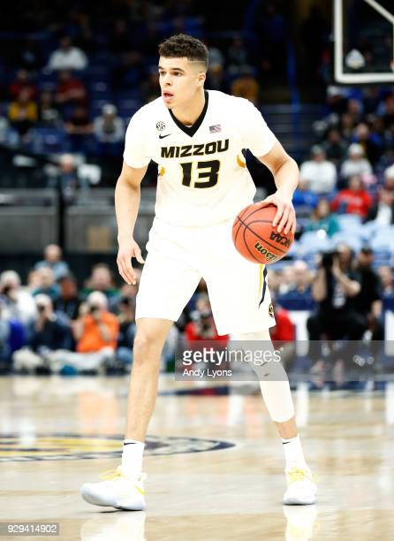 Michael Porter Jr of the Missouri Tigers dribbles the ball against the Georgia Bulldogs during the second round of the 2018 SEC Basketball Tournament...