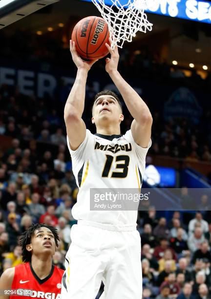 Michael Porter Jr of the Missouri Tigers shoots the ball against the Georgia Bulldogs during the second round of the 2018 SEC Basketball Tournament...