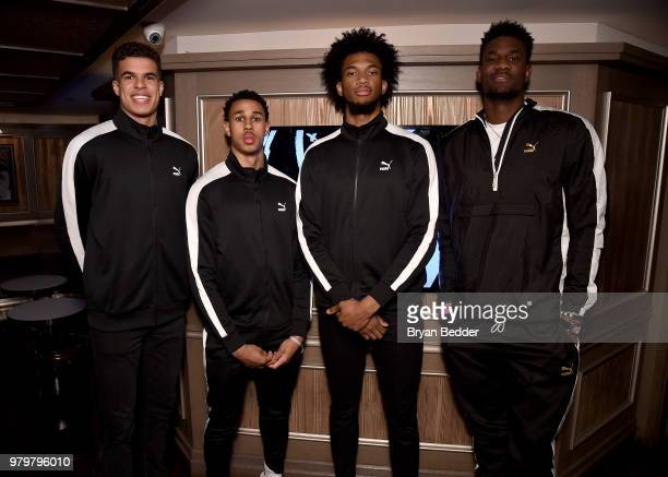 Michael Porter Jr Zhaire Smith Marvin Bagley III and DeAndre Ayton attend the PUMA Basketball launch party at 40/40 Club on June 20 2018 in New York...