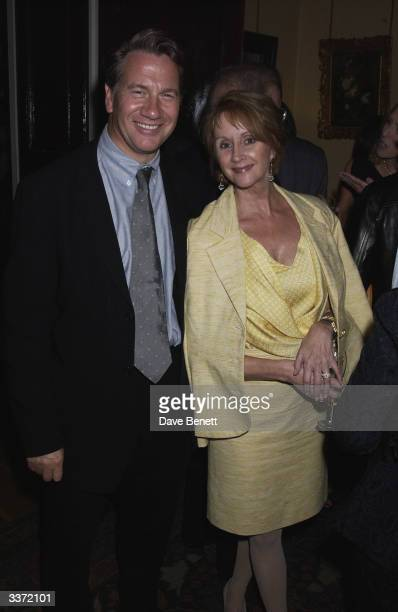 Michael Portillo and Sally Burton at a party thrown by designer Bruce Oldfield in aid of The Crimestoppers Trust held at Spencer House on 17th...