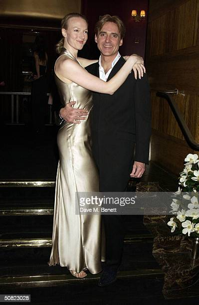 """Michael Praed and Candice Evans attend the afterparty following the press night for """"Beautiful And Damned,"""" a new musical based on the lives of..."""