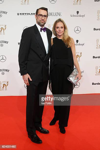 Michael Preetz and Kirsten Zophy arrive at the Bambi Awards 2016 at Stage Theater on November 17 2016 in Berlin Germany