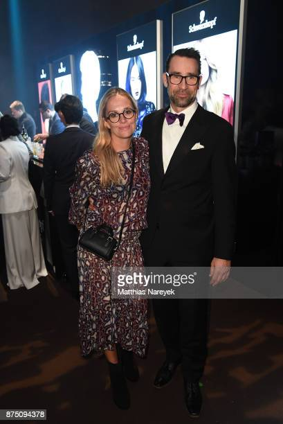 Michael Preetz and Kirsten Zophy pose at the Bambi Awards 2017 party at Atrium Tower on November 16 2017 in Berlin Germany