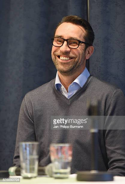Michael Preetz of Hertha BSC during the Talks on April 28 2016 in Berlin Germany