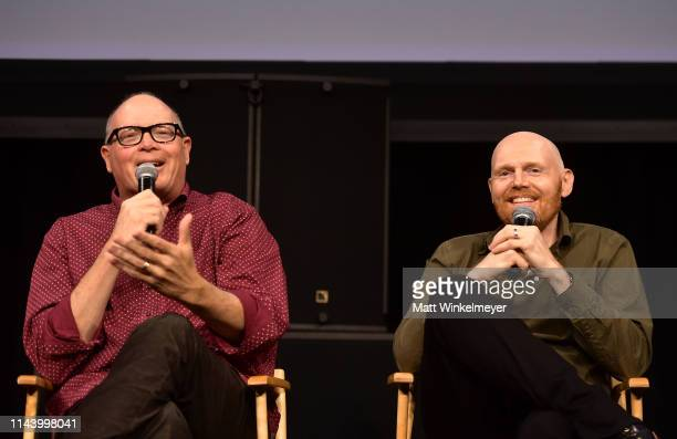Michael Price and Bill Burr speak onstage at the Netflix Adult Animation QA and Reception on April 20 2019 in Hollywood California