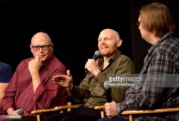 Michael Price Bill Burr and Todd VanDerWerff speak onstage at the Netflix Adult Animation QA and Reception on April 20 2019 in Hollywood California