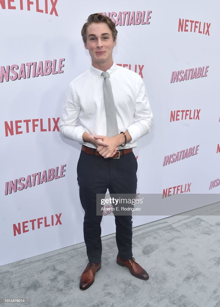 Michael Provost attends the Season 1 premiere of Netflix's 'Insatiable' at ArcLight Hollywood on August 9, 2018 in Hollywood, California.