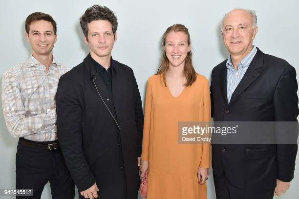 Michael Pucci Benjamin Paulin Alice Lemoine and Ralph Pucci attend Ralph Pucci Presents Pierre Paulin and James HD Brown on April 5 2018 in Los...