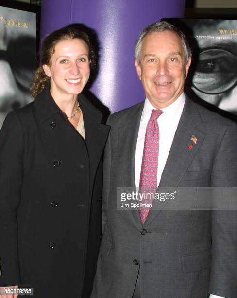 Michael R Bloomberg with his daughter Emma during New York Premiere Of Focus at AMC Empire 25 in New York City New York United States