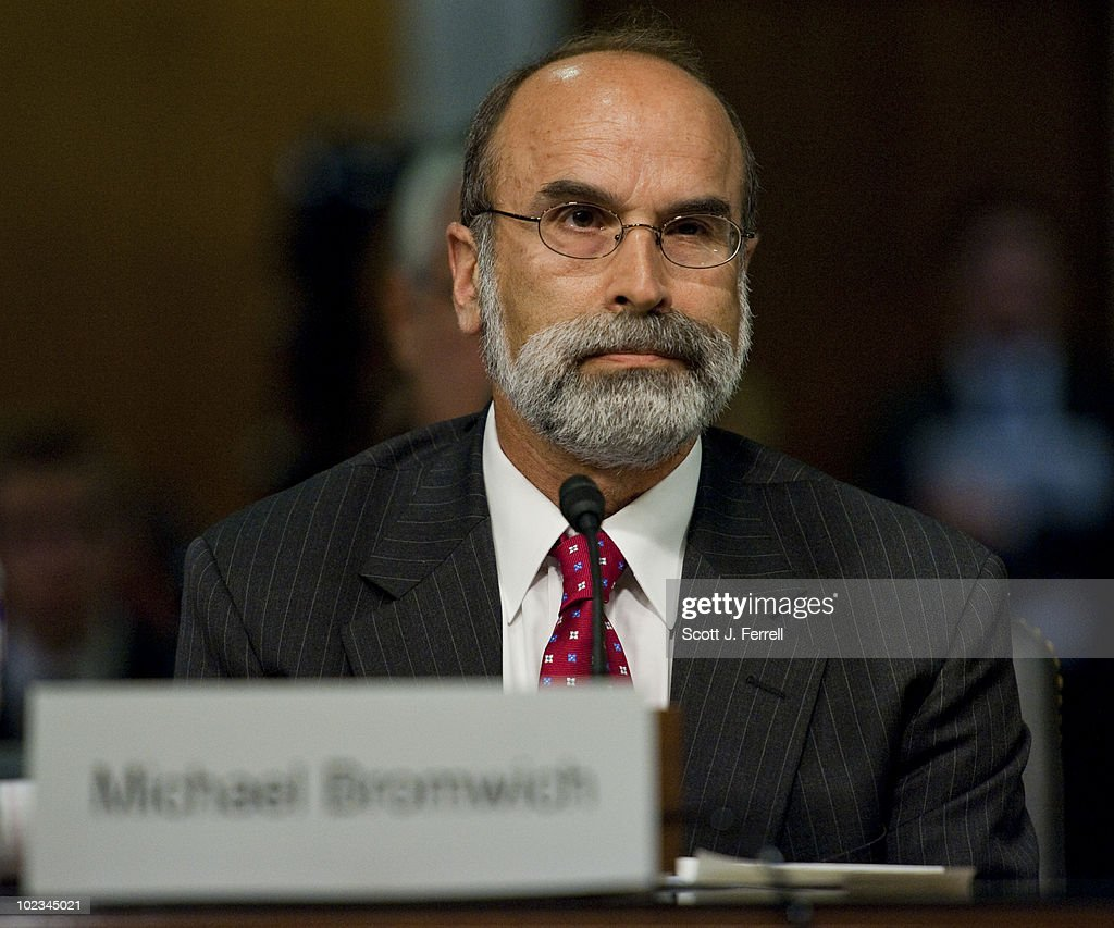 Michael R, Bromwich, director of the Bureau of Ocean Energy Management, Regulation and Enforcement - which is the new name for the Minerals Management Service (MMS) - during the Senate Appropriations Subcommittee on Interior hearing on the MMS reorganization. Interior Secretary Ken Salazar also testified.