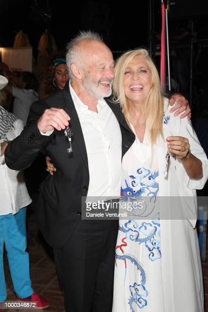 Michael Radford and Mara Venier attends 2018 Ischia Global Film Music Fest on July 16 2018 in Ischia Italy