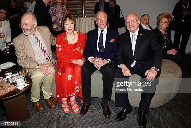 """Michael Radford, Shirley MacLaine, Christopher Plummer and Dr. Eduardo Padron attend private reception for their film """"Elsa and Fred"""" at Gusman..."""