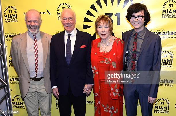 """Michael Radford, Shirley MacLaine, Christopher Plummer and Jared Gilman attend private reception for their film """"Elsa and Fred"""" at Gusman Center for..."""