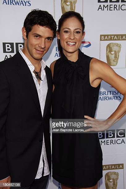Michael Rady and Rachael Kemery arrive at the BAFTA LA's 2009 Primetime Emmy Awards TV Tea Party at InterContinental Hotel on September 19 2009 in...