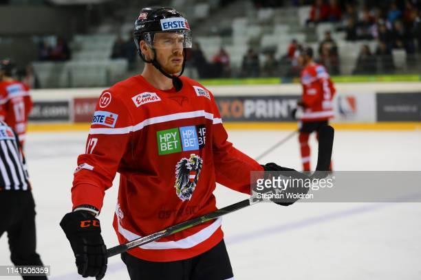 Michael Raffl of Austria during the Austria v Denmark - Ice Hockey International Friendly at Erste Bank Arena on May 5, 2019 in Vienna, Austria.