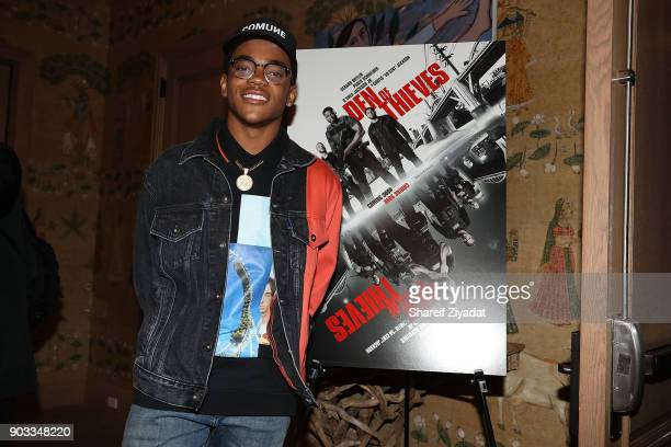 Michael Rainey Jr attends 'Den Of Thieves' Private Screening at the Whitby Hotel on January 9 2018 in New York City