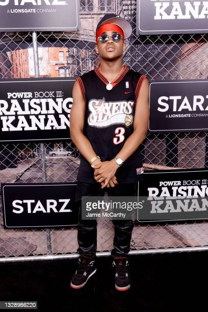 Michael Rainey Jr. Attends 'Power Book III: Raising Kanan' global premiere event and screening at Hammerstein Ballroom on July 15, 2021 in New York...