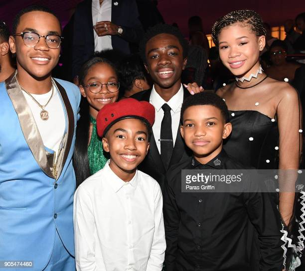 Michael Rainey Jr Marsai Martin Miles Brown Caleb McLaughlin Lonnie Chavis and Storm Reid attend 49th NAACP Image Awards After Party at Pasadena...
