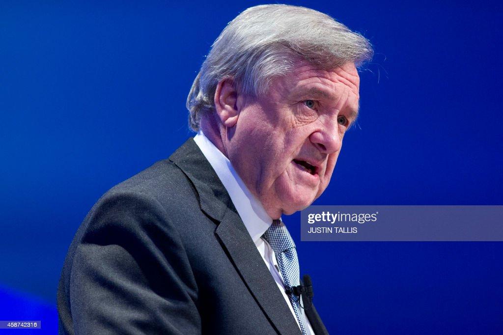 BRITAIN-ECONOMY-BUSINESS-CONFERENCE-CBI : News Photo
