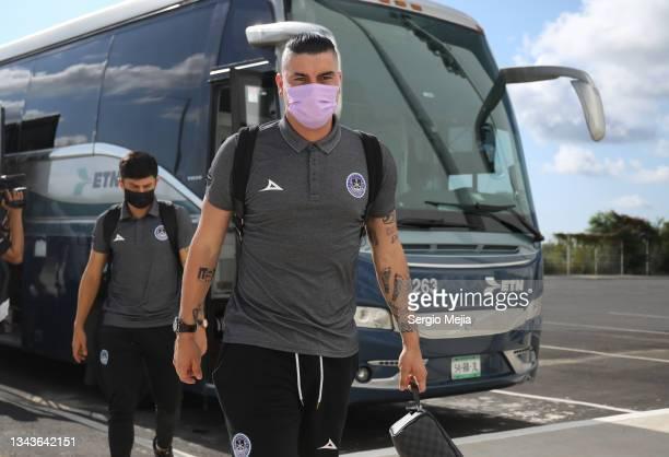 Michael Rangel of Mazatlan arrives to the stadium prior the 11th round match between Mazatlan FC and FC Juarez as part of the Torneo Grita Mexico A21...