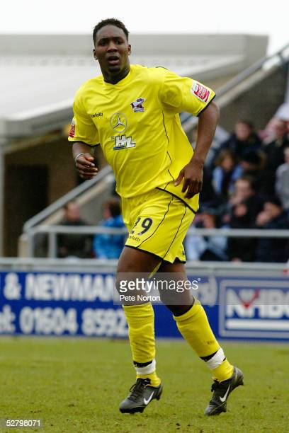 Michael Rankine of Scunthorpe United in action during the Coca Cola League Two match between Northampton Town and Scunthorpe United held a t...