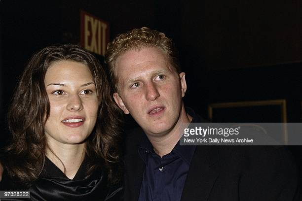 Michael Rapaport and wife Nicole are on hand for the premiere of the movie Bamboozled at the Ziegfeld Theater He is in ther film